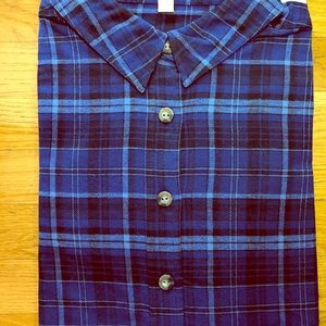 New Woman Within Classic Flannel Shirt